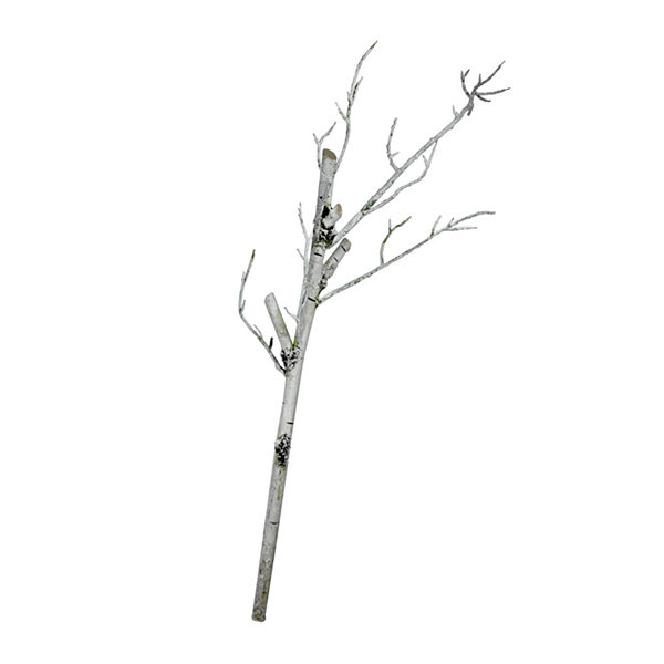"38"" White Decorative Artificial Crafting or Display Birch Tree Trunk"""