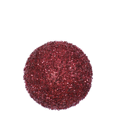 "3ct Burgundy Red Sequin and Glitter Drenched Christmas Ball Ornaments 4.75"" (120mm)"""