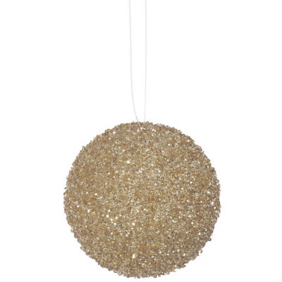 """3ct Sparkling Champagne Sequin and Glitter Drenched Christmas Ball Ornaments 4.75"""" (120mm)"""""""
