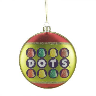 "4"" Candy Lane Tootsie Roll Dots Original Gumdrop Candies Christmas Disc Ornament"""