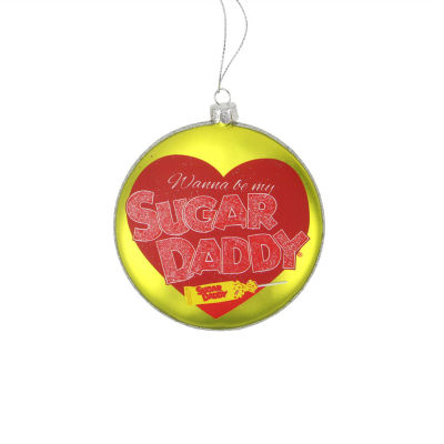 "4"" Candy Lane Tootsie Roll Sugar Daddy Original Milk Caramel Lollipop Christmas Disc Ornament"