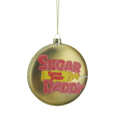 "4"" Candy Lane Tootsie Roll Sugar Daddy Original Milk Caramel Lollipop Christmas Disc Ornament"""
