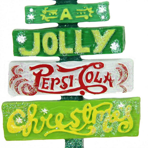 "4"" Glittered Jolly Pepsi Tree Christmas Ornament"""