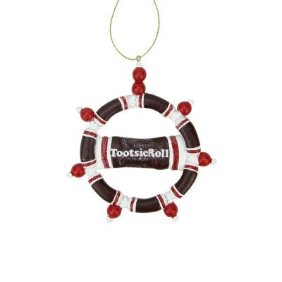"4"" Tootsie Roll Original Chewy Chocolate Candy Claydough Christmas Wreath Ornament"