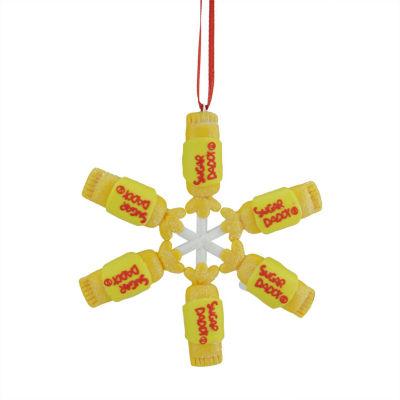 """4"""" Tootsie Roll Sugar Daddy Lollipop Snowflake Claydough Christmas Ornament"""""""