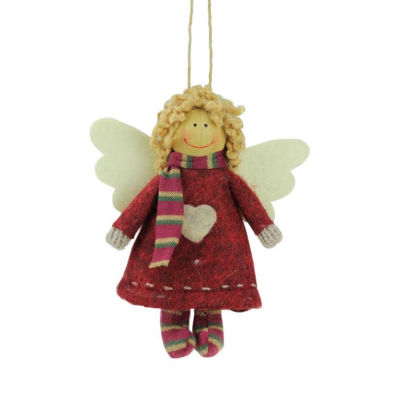 """4.25""""  Hannah the Holiday Angel Decorative Hanging Christmas Ornament"""""""