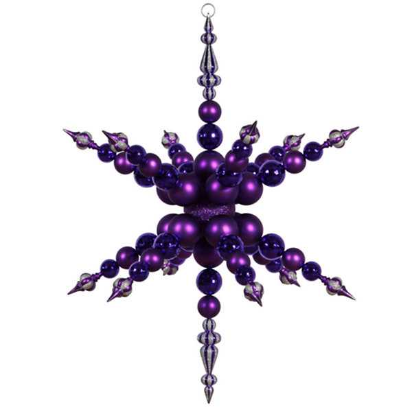 "43"" Purple Radical 3-D Snowflake Commercial Shatterproof Christmas Ornament"""