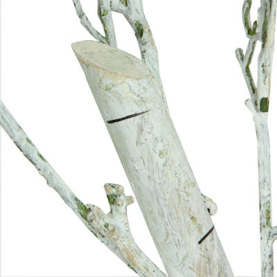 "44"" White Decorative Artificial Crafting or Display Birch Tree Trunk"""