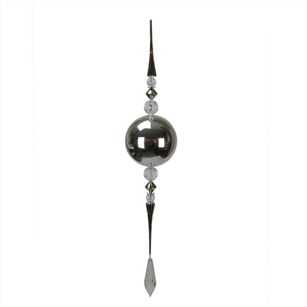 "45.25"" Winter Light Oversized Silver ShatterproofCommercial Size Finial Christmas Ornament"""
