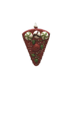 "5"" Merry & Bright Red  White and Green Shatterproof Strawberry Cake Slice Christmas Ornament"""