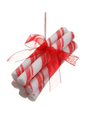 """5.5"""" Peppermint Twist Stick Bundle Christmas Ornament"""""""