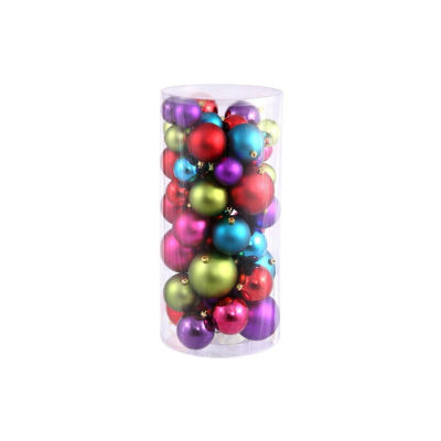 "50ct Multi-Color Shiny & Matte Shatterproof Christmas Ball Ornaments 2.4""-3""-4"""