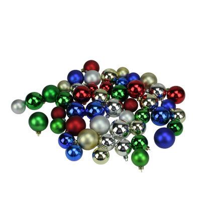 "50ct Traditional Multi-Color Shiny & Matte Shatterproof Christmas Ball Ornaments 1.5""-2"""