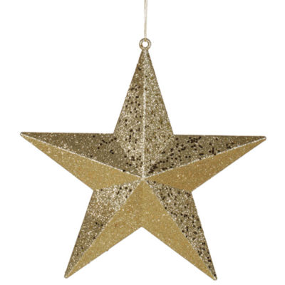 "6"" Classical Gold with Matching Glitter ChristmasStar Ornament"""