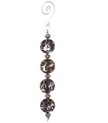 "6.5"" Diva Safari Silver Cheetah Print Faux CrystalChristmas Dangle Ornament"""