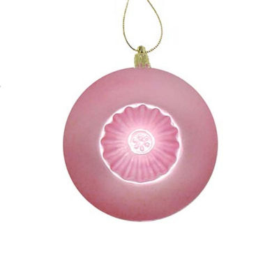 6ct Matte Pink Retro Reflector Shatterproof Christmas Ball Ornaments 4""