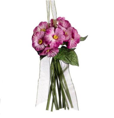 "7"" Princess Garden Pink Posie Floral Bouquet Christmas Ornament"""