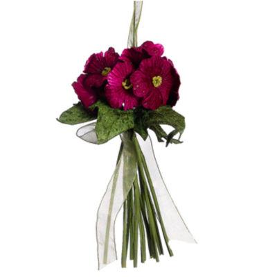 """7"""" Princess Garden Purple Plum Posie Floral Bouquet Christmas Ornament"""""""