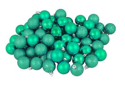 "96ct Seafoam Green Shatterproof 4-Finish ChristmasBall Ornaments 1.5"" (40mm)"""