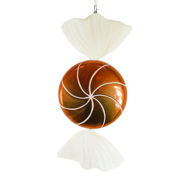 Candy Fantasy Wrapped Orange Dreamsicle Candy Christmas Ornament Decoration 18""