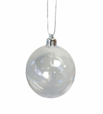 "Clear Transparent Shatterproof Christmas Ball Ornament 4"" (100mm)"""