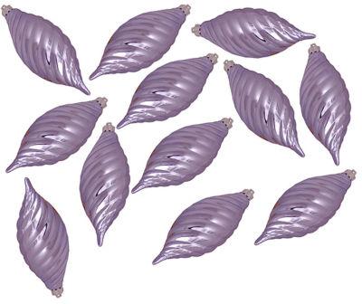 "Club Pack of 12 Purple Lavender Shatterproof Finial Christmas Ornaments 4.75"""