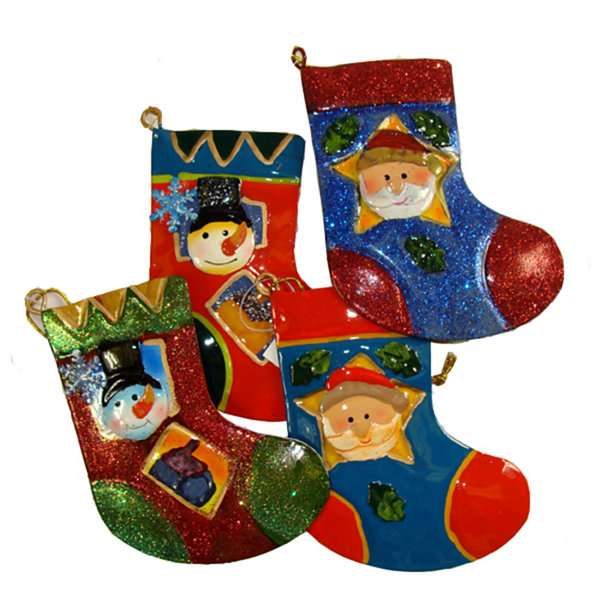 Club Pack of 144 Santa Claus and Snowman Christmas Stocking Ornaments 5