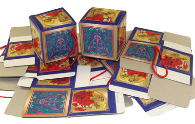 "Club Pack of 1440 Trumpeting Angel Mini Gift Box Christmas Ornaments 2"""