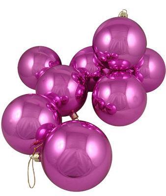 "Club Pack of 16 Shiny Pink Lolipop Glass Ball Christmas Ornaments 4"" (100mm)"""