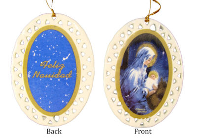 Club Pack of 192 Porcelain Holy Mary and Jesus Christmas Ornaments