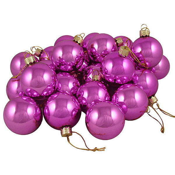 "Club Pack of 36 Shiny Pink Lolipop Glass Ball Christmas Ornaments 2.75"" (67mm)"""