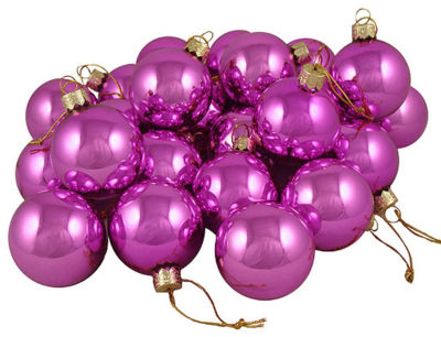 "Club Pack of 48 Shiny Pink Lolipop Glass Ball Christmas Ornaments 2"" (50mm)"""