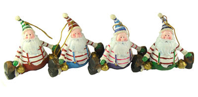 """Club Pack Of 72 Santa Claus Doing A Split Christmas Ornaments 4"""""""