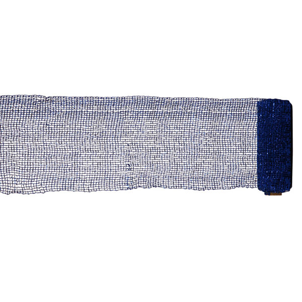 "Extra Wide Mesh Blue Sparkle Tinsel Christmas Ribbon 6"" x 4 Yards"""