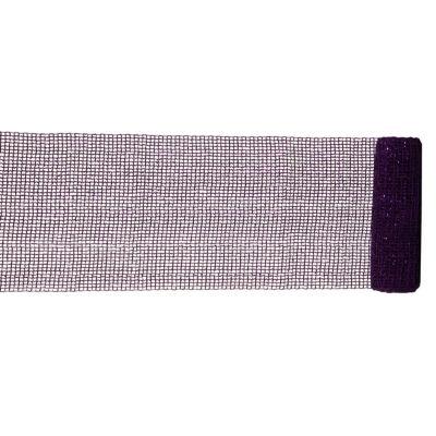 "Extra Wide Mesh Purple Sparkle Tinsel Christmas Ribbon 6"" x 4 Yards"""