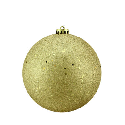 "Gold Glamour Holographic Glitter Shatterproof Christmas Ball Ornament 6"" (150mm)"""