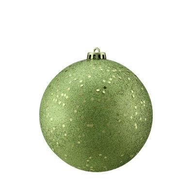 "Green Kiwi Holographic Glitter Shatterproof Christmas Ball Ornament 6"" (150mm)"""