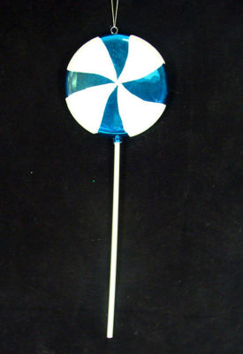 "Huge Candy Fantasy Blue Cotton Candy Lollipop Christmas Ornament Decoration 40"""