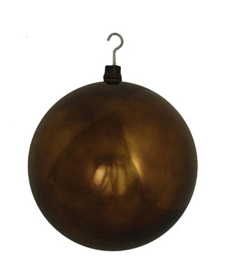 "Huge Commercial Shiny Chocolate Shatterproof Christmas Ball Ornament 16"" (400mm)"