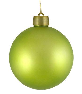 "Huge Matte Key Lime Green Shatterproof Christmas Ball Ornament 12"" (300mm)"""