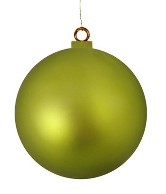 "Huge Matte Kiwi Commercial Shatterproof Christmas Ball Ornament 15.75"" (400mm)"""