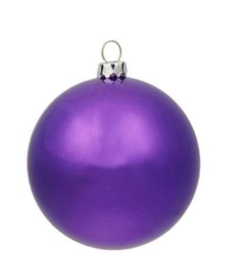 "Huge Shiny Purple Commercial Shatterproof Christmas Ball Ornament 15.75"" (400mm)"""