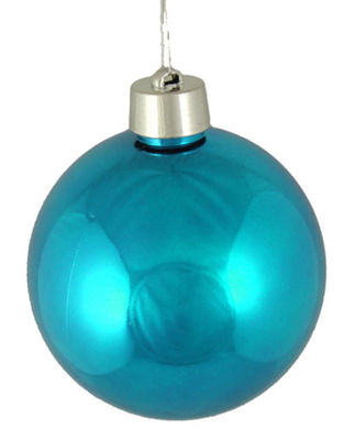 "Huge Shiny Turquoise Blue Shatterproof Christmas Ball Ornament 12"" (300mm)"""