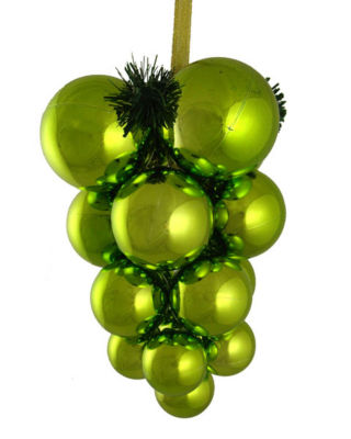 Kiwi Green Shatterproof Christmas Ball Ornament Grape Cluster Decoration 10""