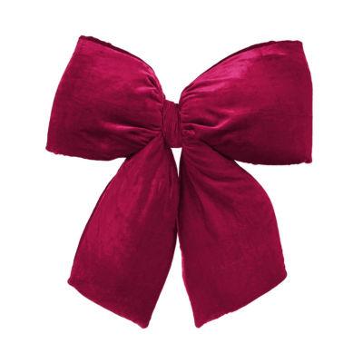 """Large 16"""" x 19"""" Burgundy Red Indoor Velvet Christmas Bow"""""""
