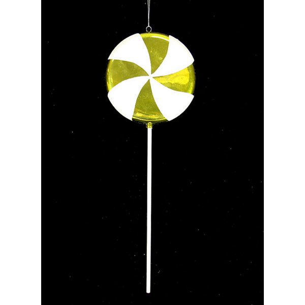 Large Candy Fantasy Key Lime Swirl Lollipop Christmas Ornament Decoration 22""