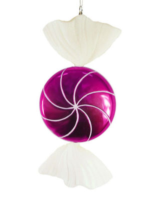 """Large Candy Fantasy Wrapped Raspberry Candy Christmas Ornament Decoration 18"""""""