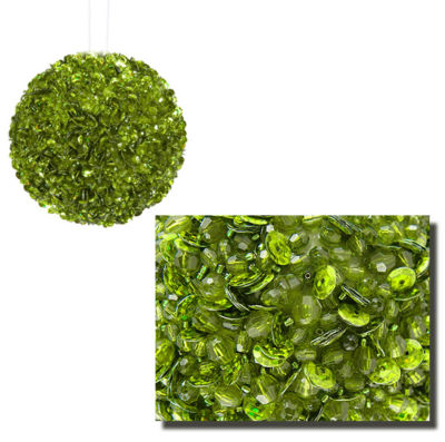 """Lavish Lime Green Fully Sequined & Beaded Christmas Ball Ornament 4.25"""" (110mm)"""""""