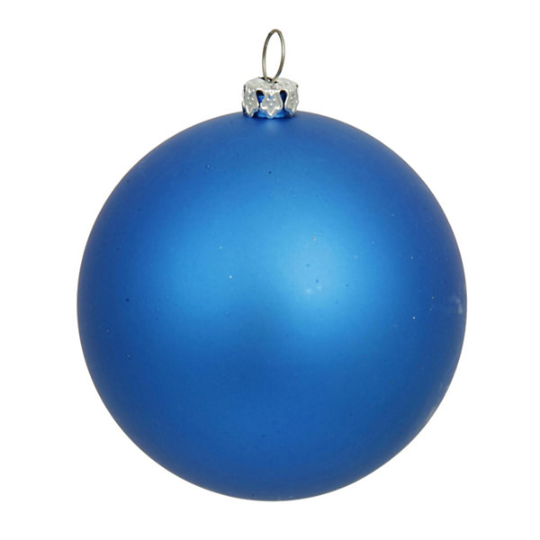"Matte Blue UV Resistant Commercial Drilled Shatterproof Christmas Ball Ornament 10"" (250mm)"""