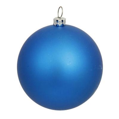 "Matte Blue UV Resistant Commercial Drilled Shatterproof Christmas Ball Ornament 15.75""(400mm)"""
